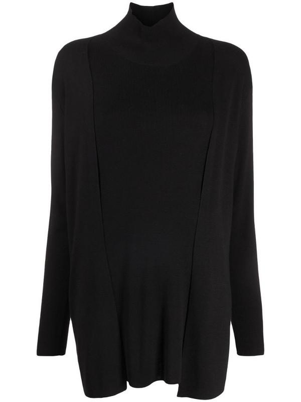 Steffen Schraut layered long-sleeve cashmere jumper in black