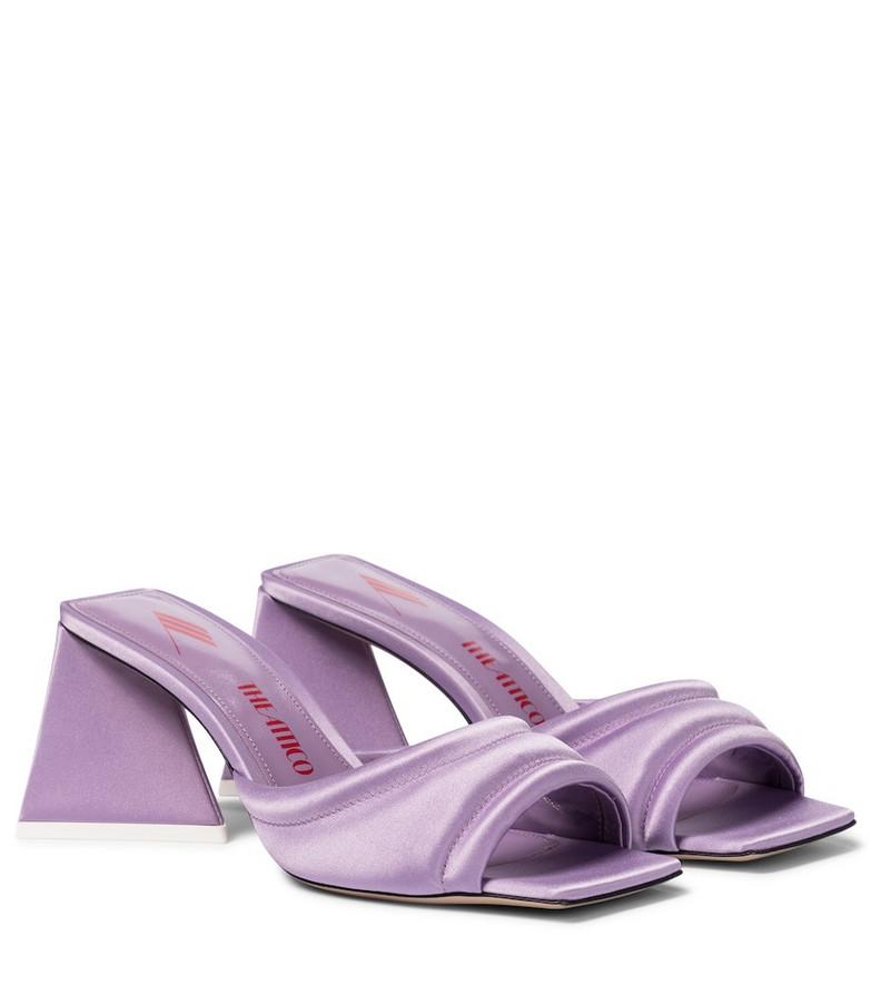 The Attico Devon satin sandals in purple