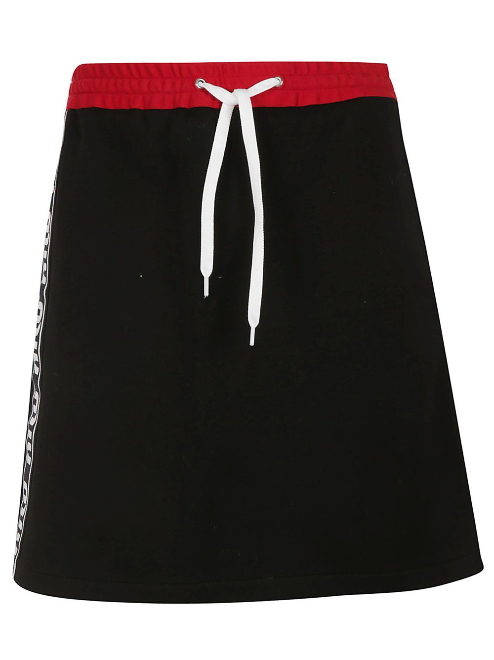 Miu Miu Logo Band Mini Skirt in black