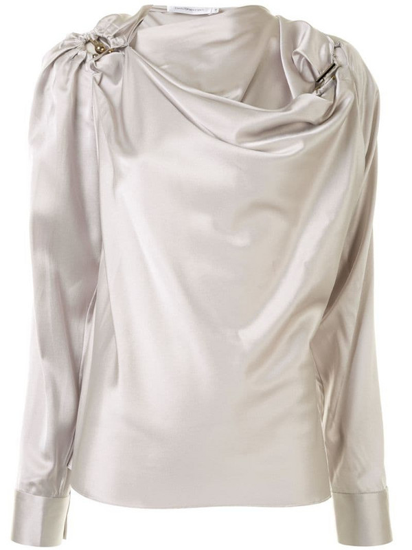 Christopher Esber Orbit draped blouse in grey