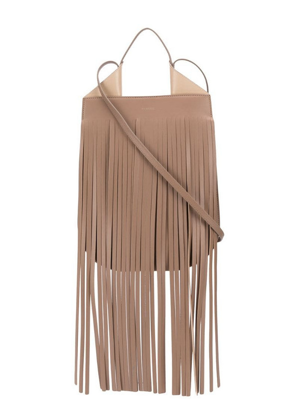 REE PROJECTS Helene fringed shoulder bag in neutrals