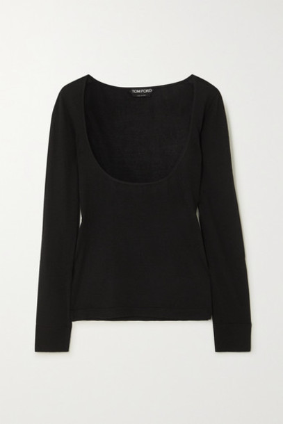 TOM FORD - Cashmere And Silk Blend Top - Black
