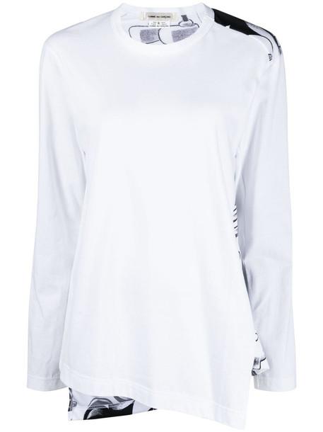 Comme Des Garçons Mickey Mouse-print sweatshirt - White