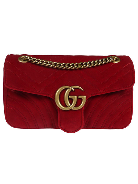 Gucci Gg Marmont Shoulder Bag in red
