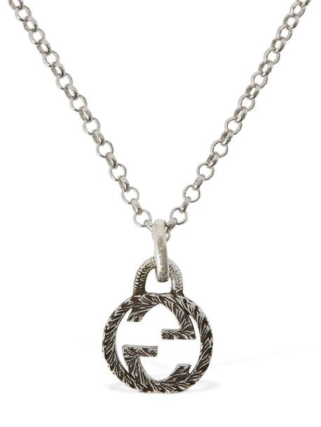GUCCI 50cm Interlocking Gg Necklace in silver