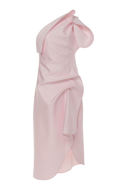 Acler Crawford Ruffled One-Shoulder Crepe De Chine Midi Dress Size: 2
