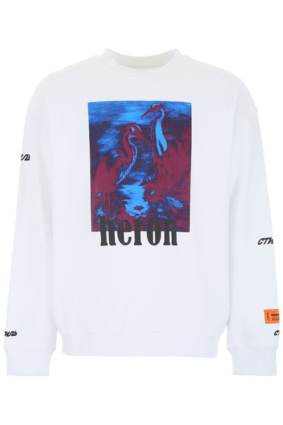 HERON PRESTON Heron Sweatshirt in white / multi