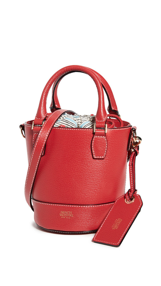 Frances Valentine Small Bucket Bag in red