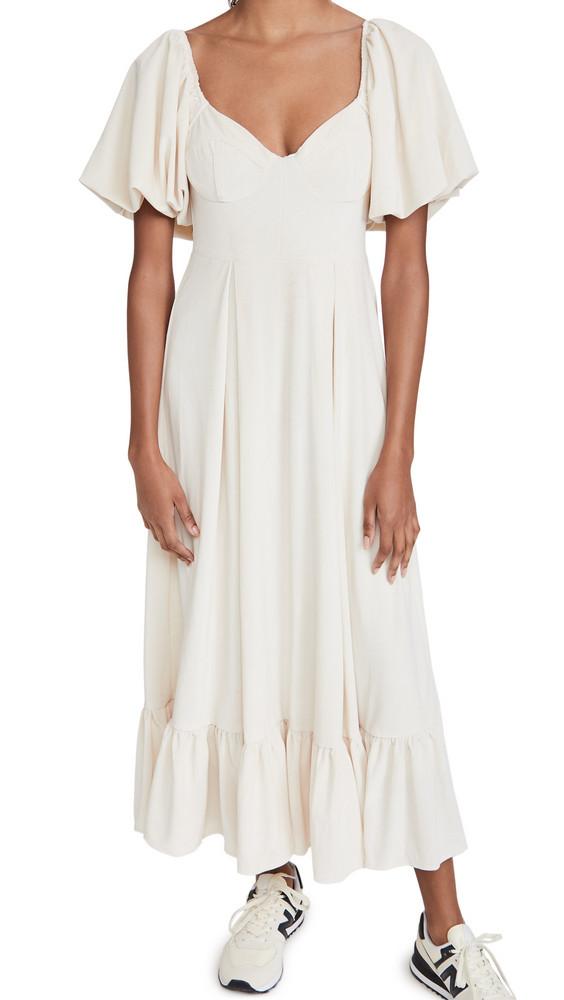 Sister Jane Icing Velvet Maxi Dress in cream