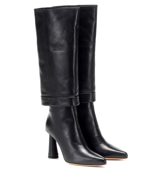 Jacquemus Les Bottes Pantalon leather boots in black