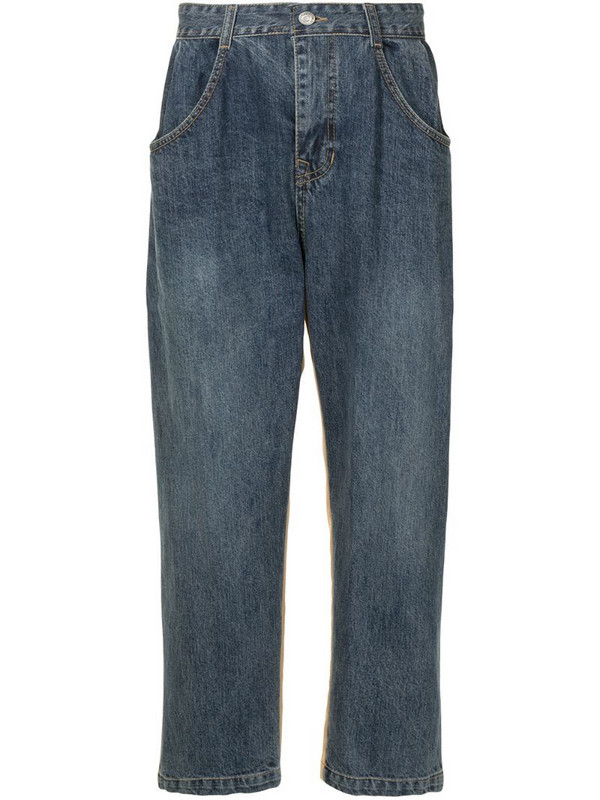 SONGZIO hybrid-design straight-leg trousers in blue
