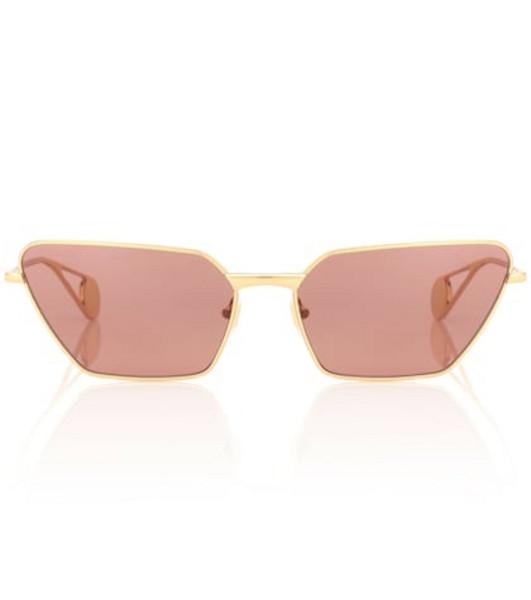 Gucci Angular metal sunglasses in brown