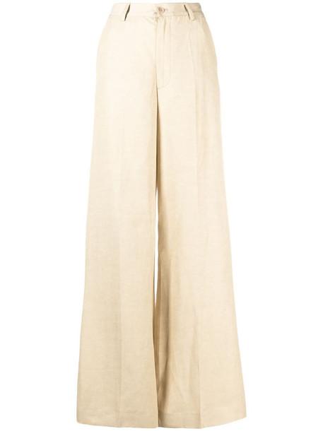 P.A.R.O.S.H. flared-leg trousers in neutrals