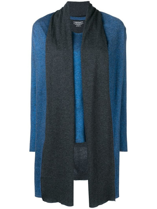 Majestic Filatures layered shawl top in blue