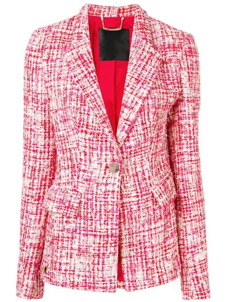 Philipp Plein tweed jacket in red