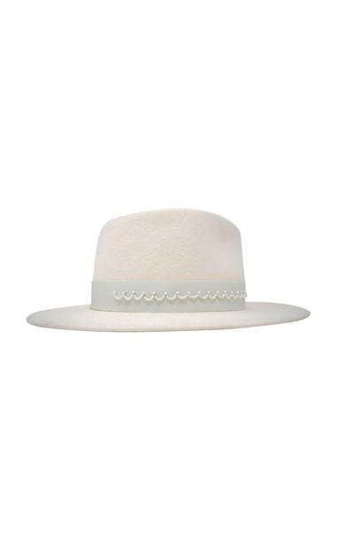 Gigi Burris Georgia Velour Felt Hat in white
