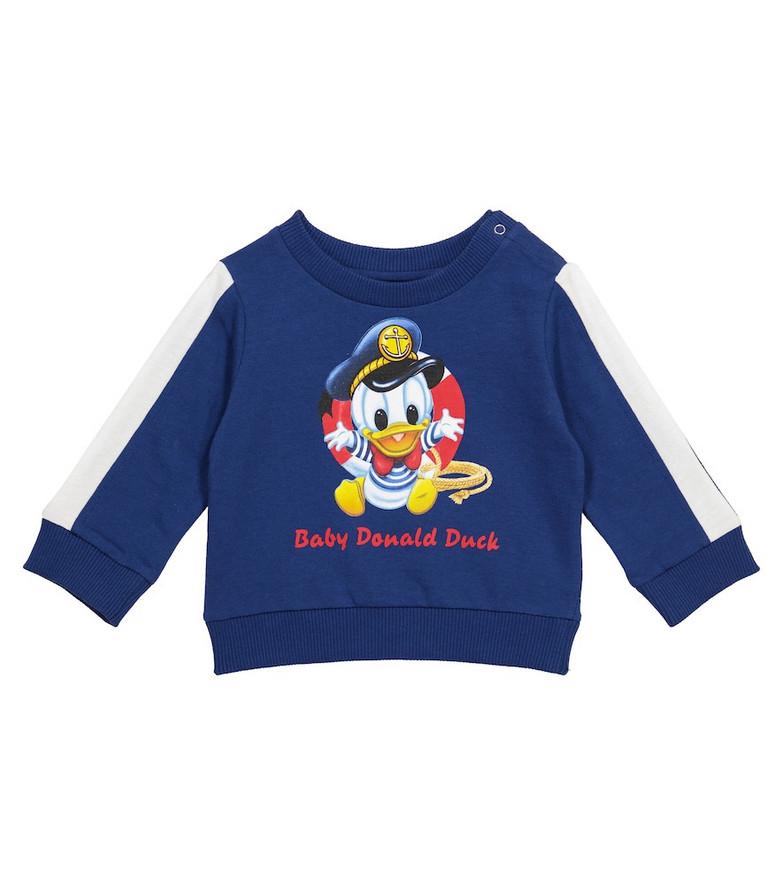 Monnalisa x Disney® Baby cotton sweatshirt in blue