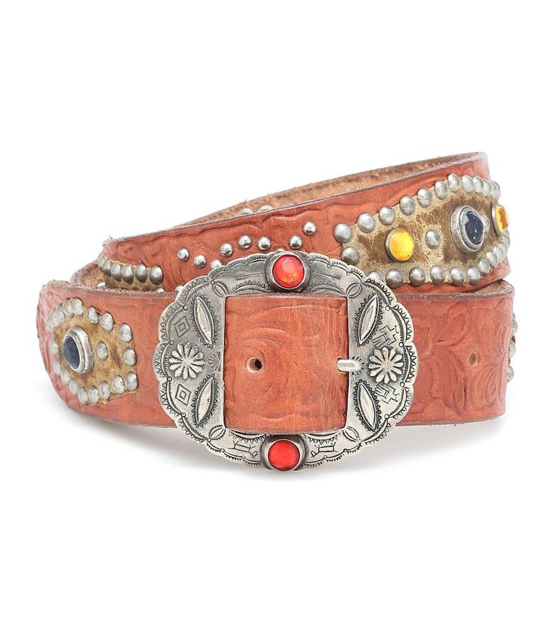 Golden Goose Texas Rodeo embellished leather belt in brown