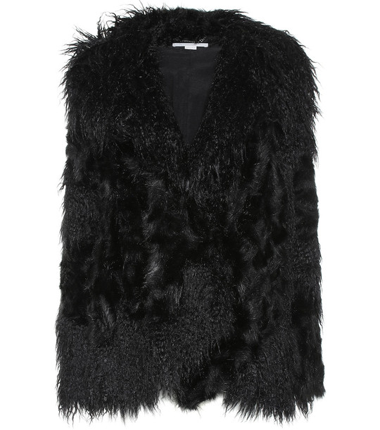 Stella McCartney Faux fur jacket in black
