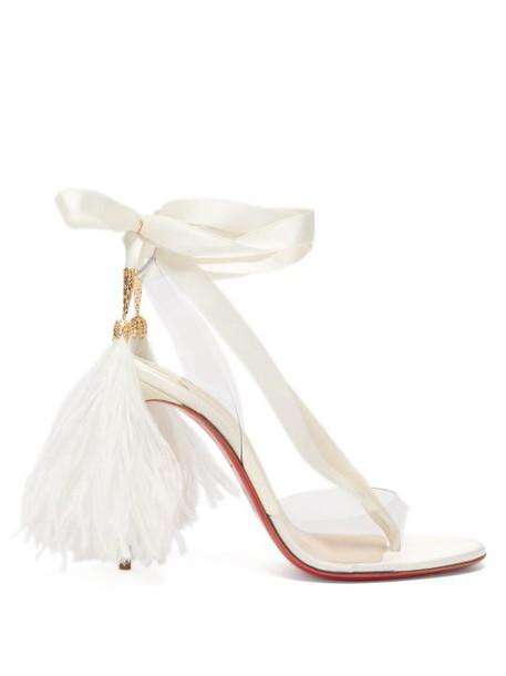 Christian Louboutin - Marie Edwina 100 Satin Sandals - Womens - White