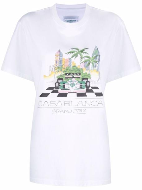 Casablanca graphic print T-shirt - White