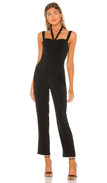 superdown Michelle Halter Front Jumpsuit in Black