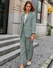 top,plaid,plaid jacket,jacket,co-ord set,coords,two-piece