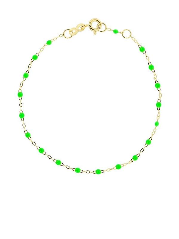 Gigi Clozeau 18kt yellow gold Classic Gigi neon green beaded bracelet