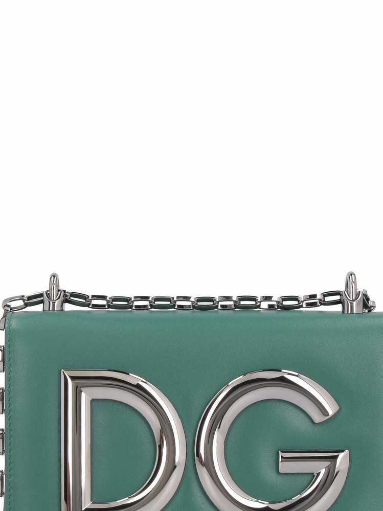Dolce & Gabbana Dg Girls Leather Shoulder Bag in green