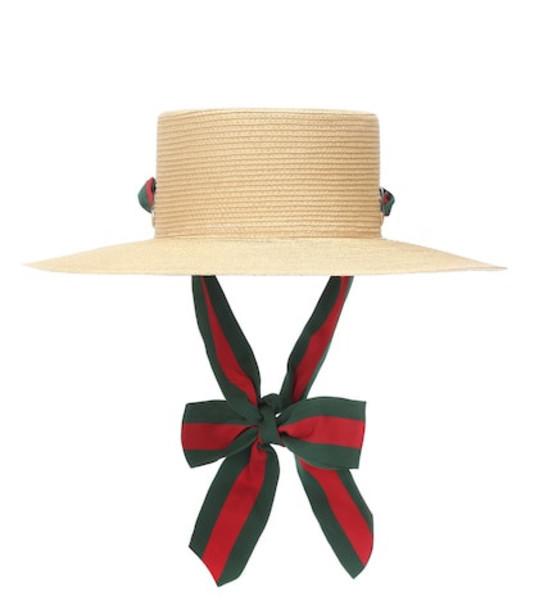 Gucci Paper straw hat in beige