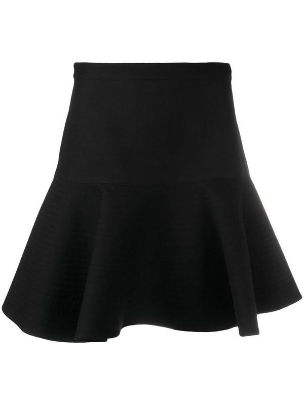Valentino flared short skirt in black