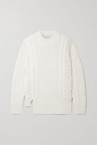 APIECE APART - Nuevo Anni Cable-knit Merino Wool Sweater - Cream