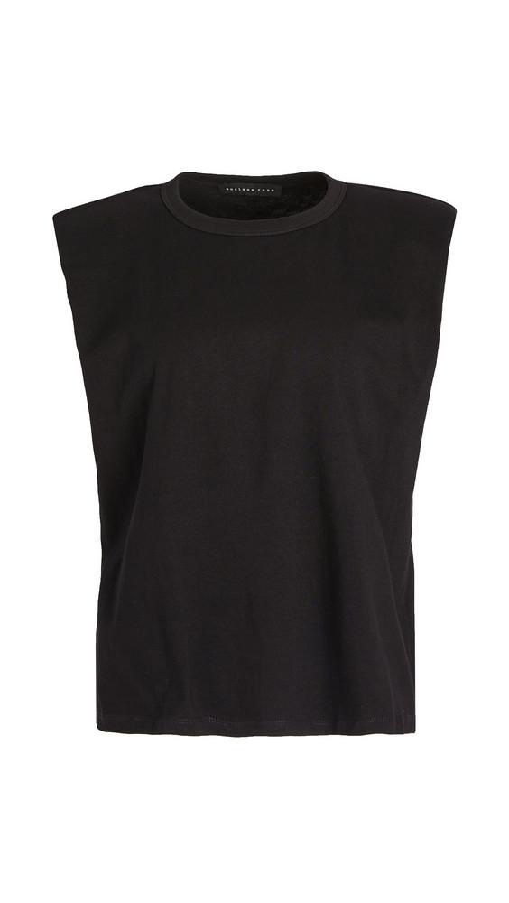 endless rose Padded Shoulder T-Shirt in black
