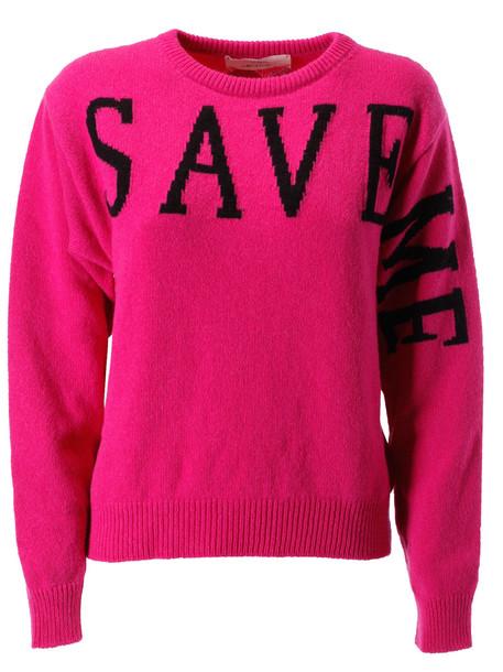 Alberta Ferretti Save Me Sweater in nero
