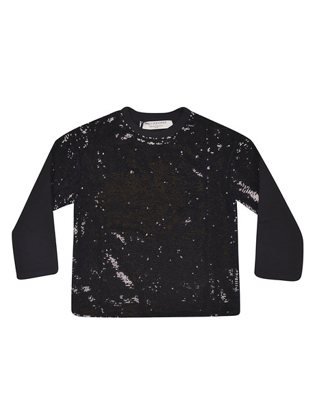 Philosophy di Lorenzo Serafini Kids Sequined Detail Sweatshirt in nero / bianco