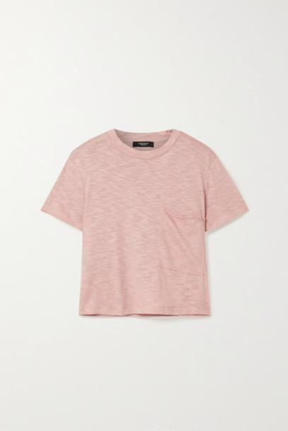 TWENTY Montréal - Brooks Cropped Slub Jersey T-shirt - Antique rose