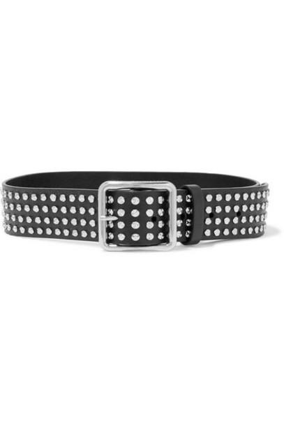 Alexander McQueen - Studded Leather Belt - Black