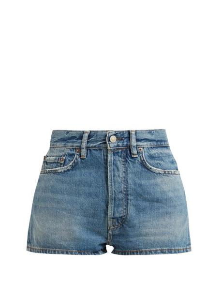 Acne Studios - Mid Rise Denim Shorts - Womens - Indigo