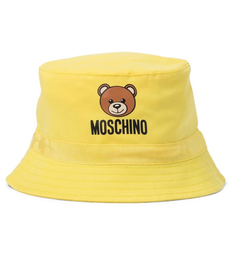 Moschino Kids Baby stretch-cotton bucket hat in yellow