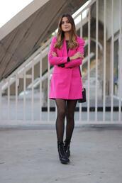 marilyn's closet blog,blogger,jacket,shoes,bag,shirt,jewels,blazer,pink jacket