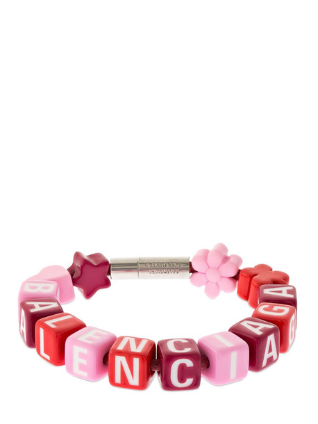 BALENCIAGA Toy Cotton Bracelet in pink / silver