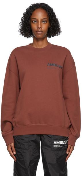 AMBUSH Red Fleece Workshop Sweatshirt