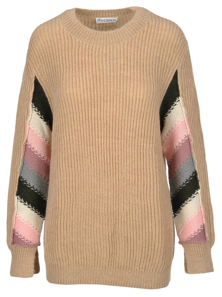 J.W. Anderson Jw Anderson Ribbed Sweater in beige
