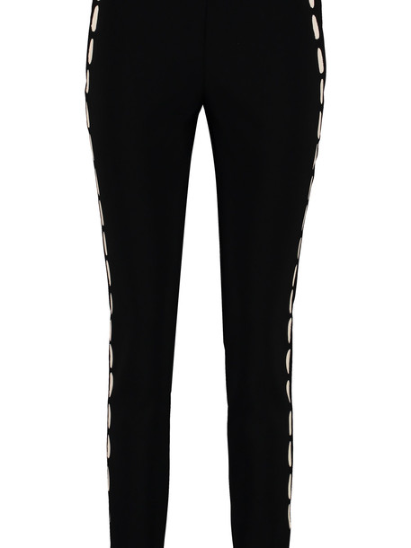 Moschino Printed Slim-fit Trousers in black