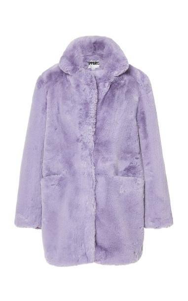 Apparis Sophie Faux Fur Coat Size: XS in purple