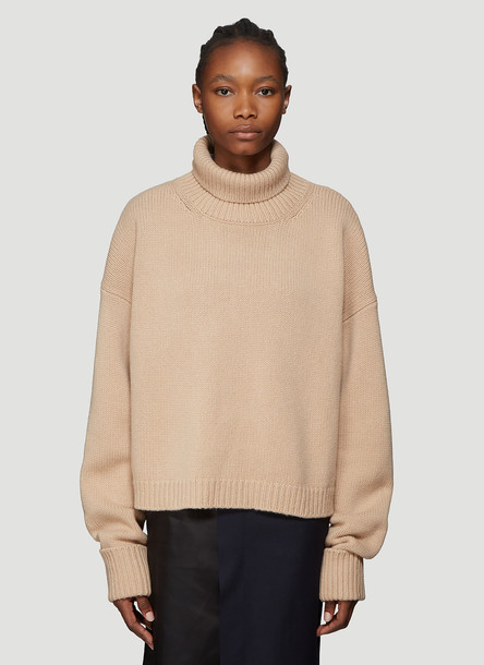 Maison Margiela Chunky Knit Sweater in Brown size XS