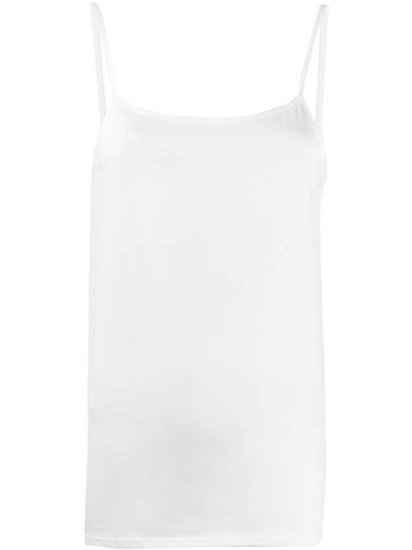 Sunspel fitted camisole top in white