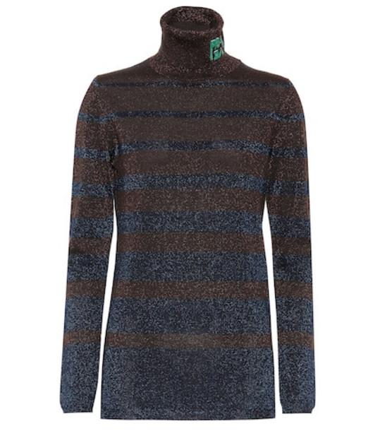 Prada Wool turtleneck sweater in brown
