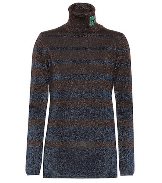 Prada Wool turtleneck sweater in brown