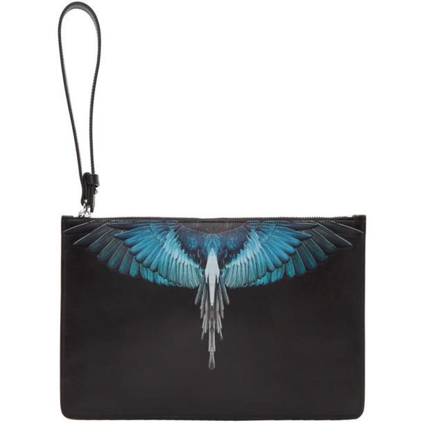 Marcelo Burlon County of Milan Black & Blue Wings Pouch